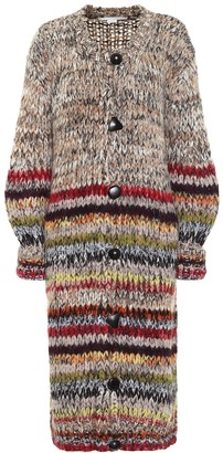 Stella McCartney Alpcaca-blend longline cardigan