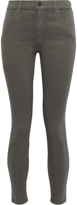 J Brand Rosy Cheek Neon Mid-rise Skinny Jeans