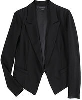 Blazer with Knit Sleeves