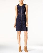 INC International Concepts Petite Denim Sheath Dress, Only at Macy's