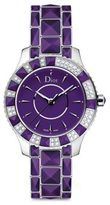 Christian Dior Christal Diamond, Purple Sapphire Crystal & Stainless Steel Bracelet Watch