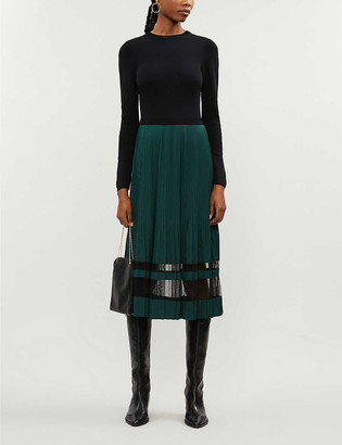 Ted Baker Scarlah contrast skirt midi dress