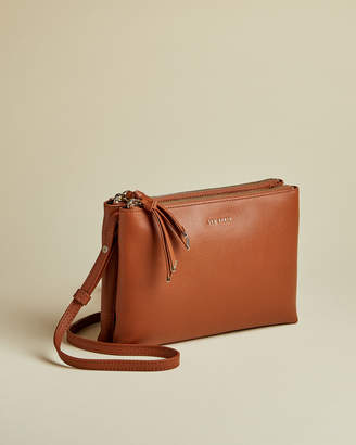 Ted Baker DANII Double pouch leather cross body bag