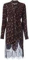 McQ by Alexander McQueen floral pintuck peasant dress - women - Silk/Polyamide - 44