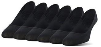 Peds Women's Microfiber Nylon Liner Socks with Gel Tab, 6 Pairs