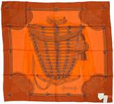 One Kings Lane Vintage Hermès Brandebourg Orange Scarf