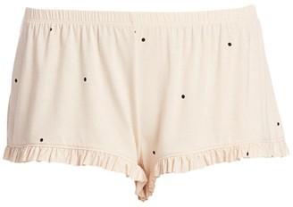 Eberjey Dot Ruffle Shorts