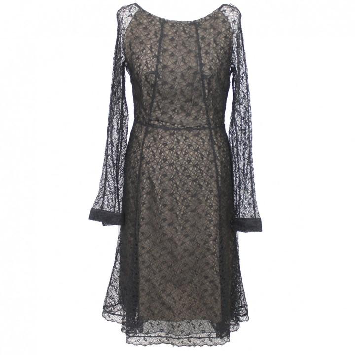 Erdem Black Lace Dress for Women