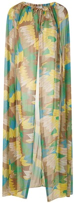 AMIR SLAMA Sheer Cape Dress