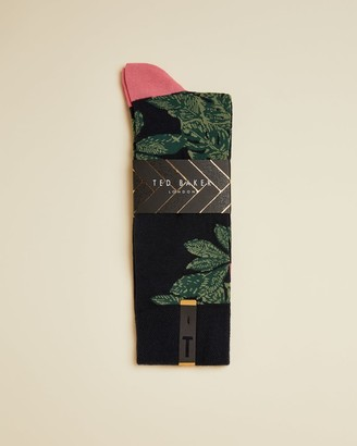 Ted Baker Leaf Print Socks