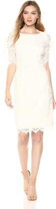 Adrianna Papell Women's Bell Sleeve Georgia LACE Sheath Dress