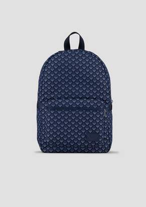Emporio Armani Backpack In All-Over Logo Fabric