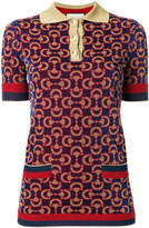 Gucci knitted jacquard polo shirt