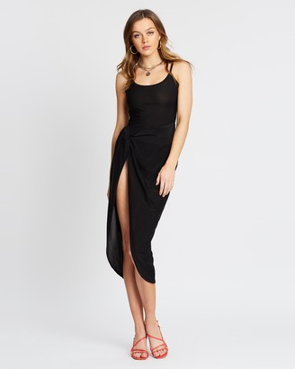 Missguided Slinky Cami Twist Bodycon Midaxi Dress