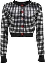 Love Moschino Cropped Gingham Cardigan