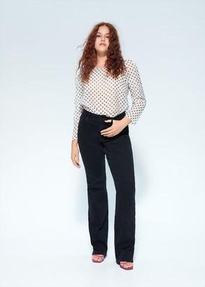 MANGO Violeta BY Polka-dot print blouse off white - 10 - Plus sizes