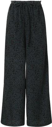 Y's Paisley-Print Wide-Leg Trousers
