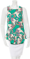 Thakoon Sleeveless Paisley Top