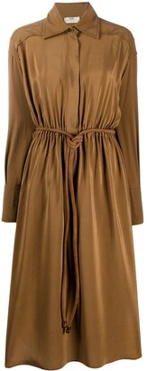 Fendi crepe de Chine shirt dress