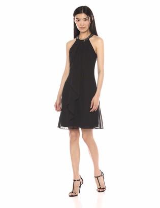 SL Fashions Women's Jewel Neck Sheath Dress
