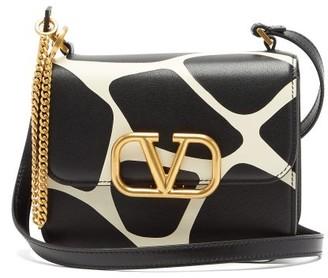 Valentino V-sling Small 1966 Giraffe-print Leather Bag - Womens - Black White