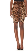Leopard Print High Waist Pencil Skirt