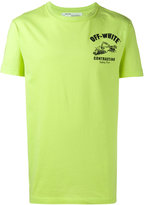 Off-White 'contracting' printed t-shirt - men - Cotton - XXS