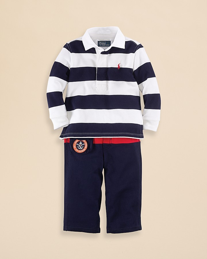 Ralph Lauren Infant Boys' Rugby & Pant Set - Sizes 9-24 Months