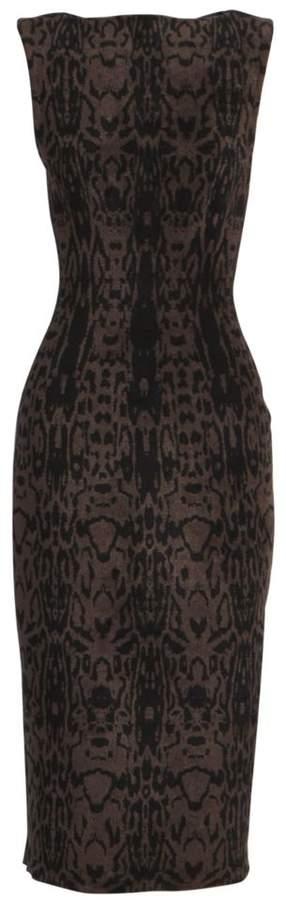 Alaia Animal-Print Sheath Dress