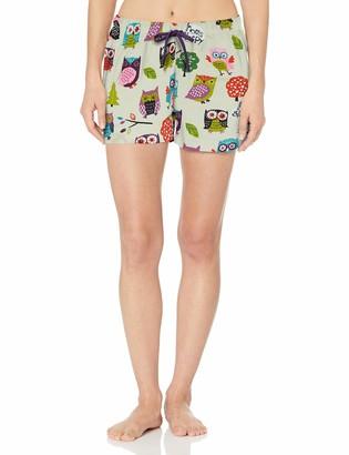 Hatley Little Blue House Women's Boxer Short Pyjama Bottoms