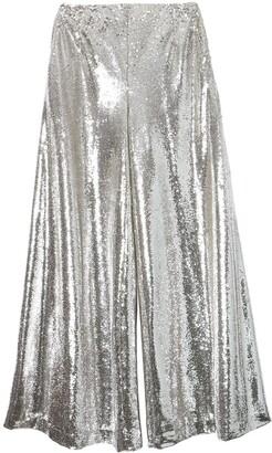 Carolina Herrera Sequin-Embellished Flared Trousers