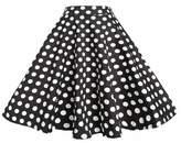 BI.TENCON 1950s Retro Red Polka Dot Skirt High Waisted Full Swing Flare Skirts S