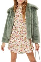 Topshop Women's Claire Faux Fur Coat