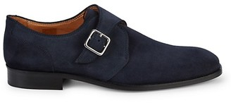 Saks Fifth Avenue Made In Italy Suede Monk-Strap Shoes