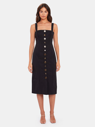 Finders Keepers Tia Button Front Midi Dress
