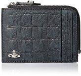 Vivienne Westwood Men's Croc Embossed Zip Credit Card Holder