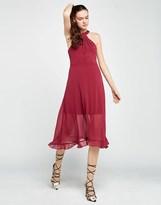 BCBGMAXAZRIA Bcbgeneration Midi Halter Neck Dress