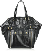 Downtown patent-leather tote