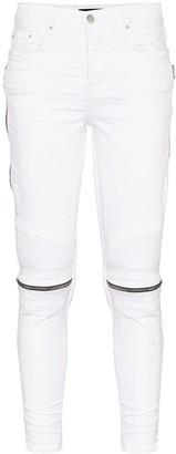 Amiri Zip Knee Skinny Jeans