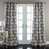 Lush Decor Lush Décor Elephant Parade 84-Inch Room Darkening Window Curtain Panel Pair in Grey