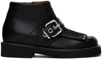 Marni Black Tassel Ankle Boots