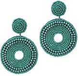 Kenneth Jay Lane Women's Turquoise Seed Beads Circle Drop Pierced Earrings
