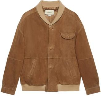 Gucci Suede oversize bomber jacket