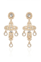 Quiz Gold Cross Diamante Earrings