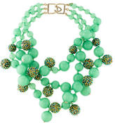 Kenneth Jay Lane Bead & Crystal Multistrand Necklace
