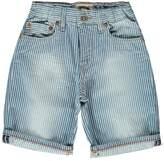 Bellerose Padro81 Striped Washed Denim Shorts
