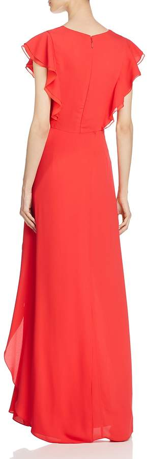 BCBGMAXAZRIA Flutter Sleeve Gown - 100% Exclusive