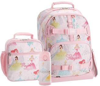 Pottery Barn Kids Mackenzie Disney Princess Castle Shimmer Backpack & Lunch Bundle, Set Of 3