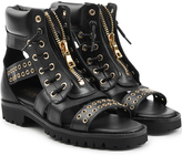 Balmain Leather Ankle Boot Sandals