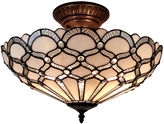 AMORA Amora Lighting AM108CL17 Tiffany Style Ceiling Fixture Lamp 17 In Wide